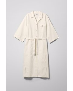 Bay Denim Shirt Dress White