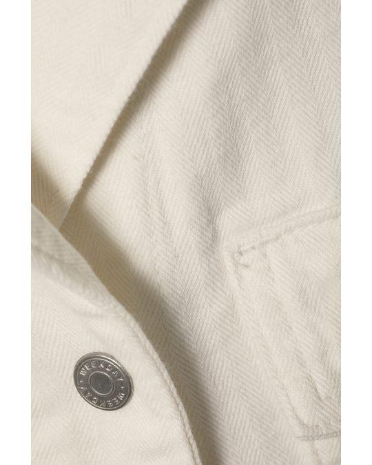 Weekday Bay Denim Shirt Dress White