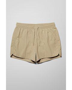 Tan Structure Swim Shorts Beige