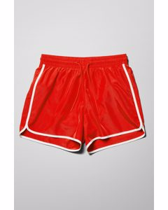 Tan Swim Shorts Red