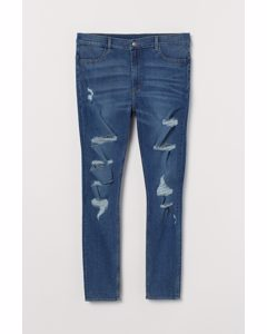 H&M+ Super Skinny High Jeans Blau