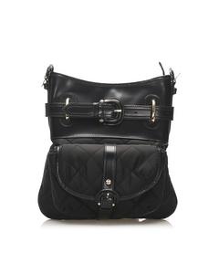 Burberry Quilted Nylon Crossbody Bag Black