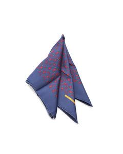 Hermes Printed Silk Scarf Blue