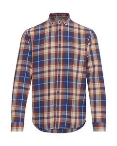 6200111, Shirt - Juan Ls Bd Check Off White