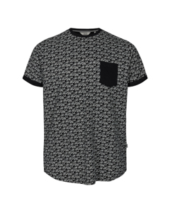 6204133, T-shirt - Henrik Aop Ss Black
