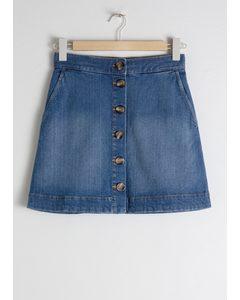 Denim Mini Skirt Blue