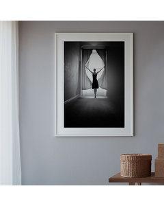 Poster Schwarzweiß Morgensonne