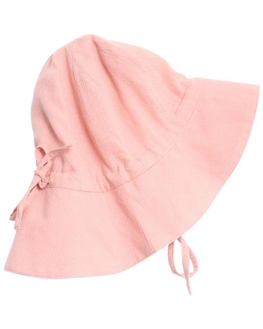 Wheat Baby Girl Sun Cap Pink Rose Tan