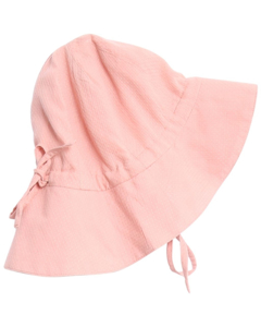 Baby Girl Sun Cap Pink Rose Tan