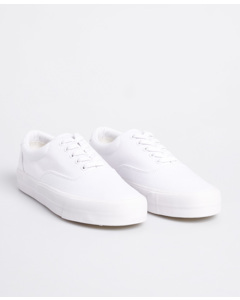 Classic Lace Up Trainer Optic