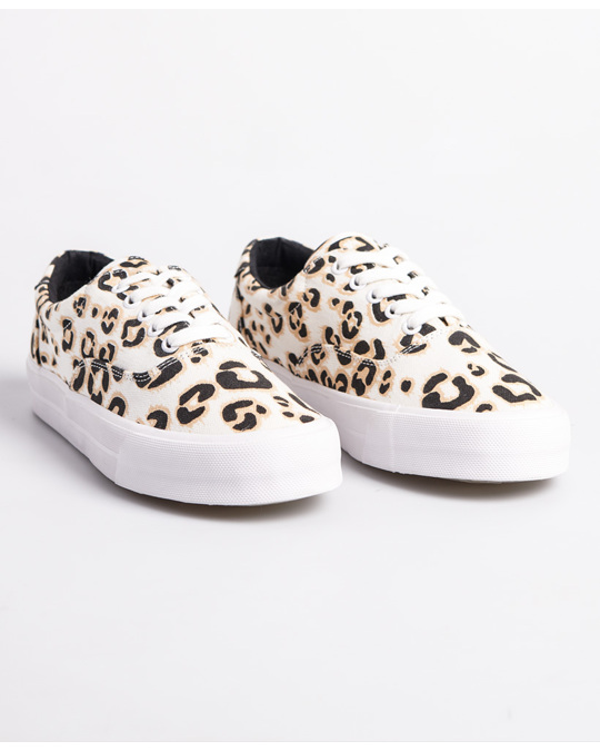 Superdry Classic Lace Up Trainer Leopard Print