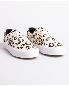 Classic Lace Up Trainer Leopard Print