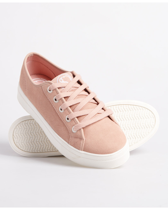 Superdry Womens Flatform Sleek Trainer Soft Pink
