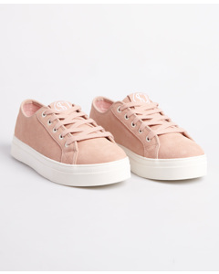 Womens Flatform Sleek Trainer Soft Pink