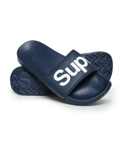 Classic Pool Slide Dark Navy/optic White/fluro Lime