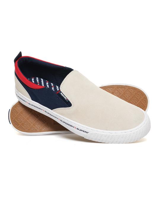 Superdry International Slip On Off White/navy/red