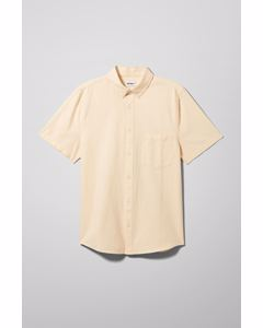 Henrik Oxford S/s Shirt Yellow