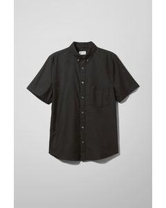 Henrik Oxford Short Sleeve Shirt Black