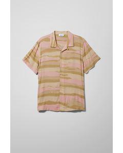 Coffe Dye Stripe Shirt Beige