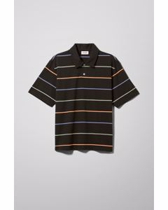 Otto Striped Polo Black
