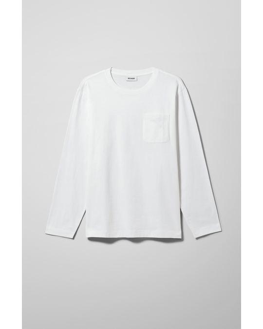 Weekday Jayden Pocket Long Sleeve White
