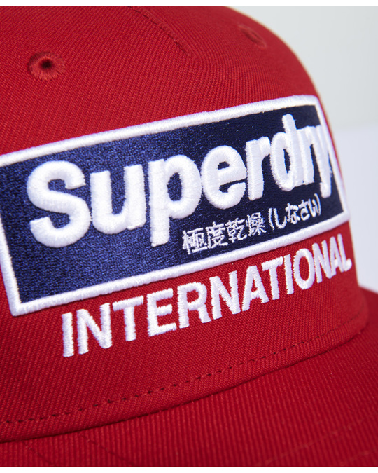Superdry International B-boy Cap Red
