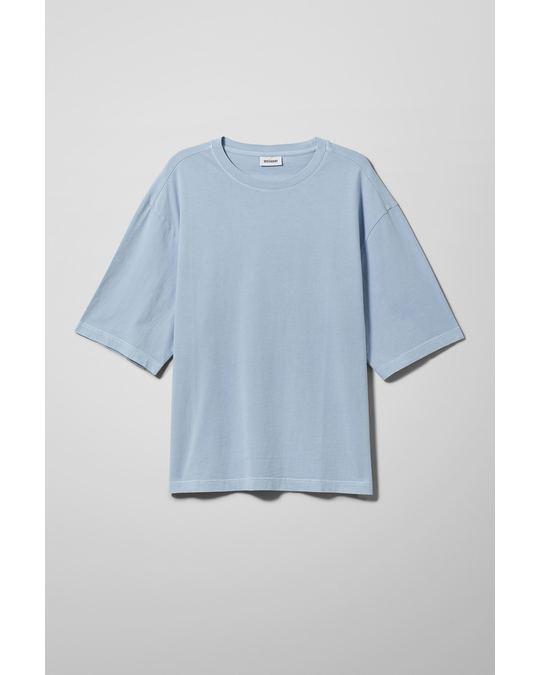 Weekday Noah Overdyed T-Shirt Blue