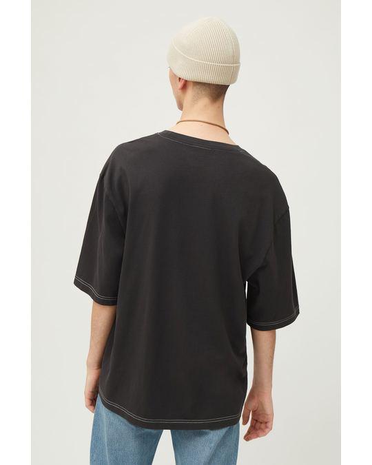 Weekday Noah Overdyed T-shirt Black