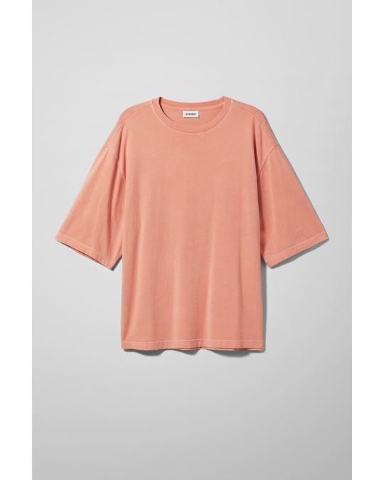 Weekday Noah Overdyed T-Shirt Orange