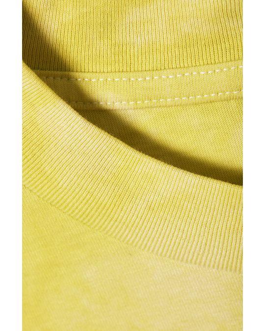 Weekday Great Tie Dye T-shirt Yellow