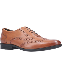 Hush Puppies Mens Oaken Brogue Lace Up Leather Shoe