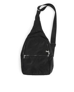 Nylon Sling Bag Black