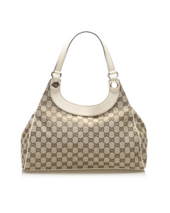 Gucci Gg Canvas Charmy Shoulder Bag Brown