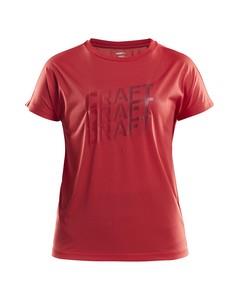 Eaze Ss Logo Mesh Tee W - Beam/rhubarb-red-xs
