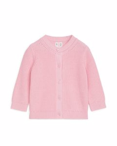 Cotton Silk Cardigan Pink