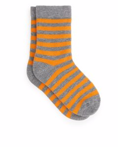 Striped Socks Grey/yellow