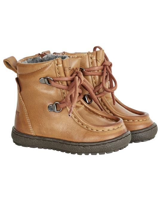 EN FANT Lace/zip Tex Leather Camel