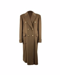 Cantarelli Vintage Tan Beige Double Breasted Tailored Long Coat