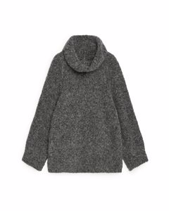 Alpaca Roll-neck Jumper Grey