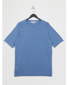 100% Recycled Knitted Lounge T-shirt Blue