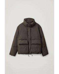 Down Padded Puffer Jacket Dark Brown