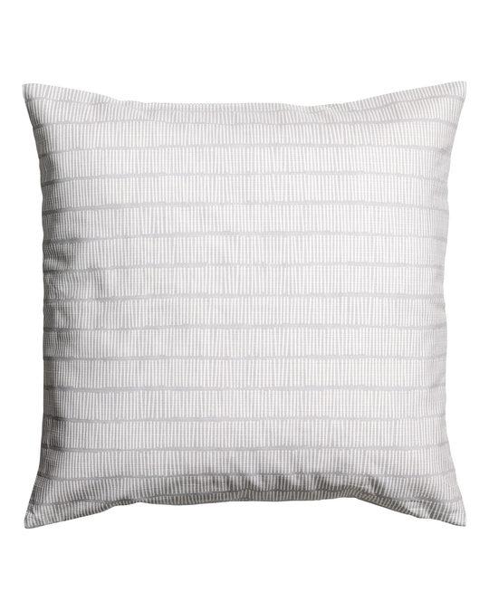 H&M HOME Slub Weave Cushion Cover Light Grey