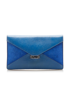 Celine Diamond Leather Clutch Bag Blue