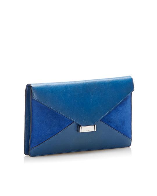 Céline Celine Diamond Leather Clutch Bag Blue