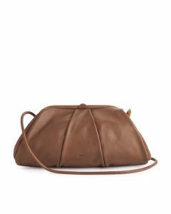 Soft Leather Clutch Bag Camel