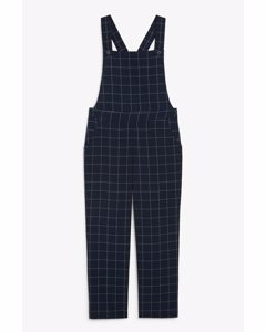 Tailored Dungarees Blue Grid