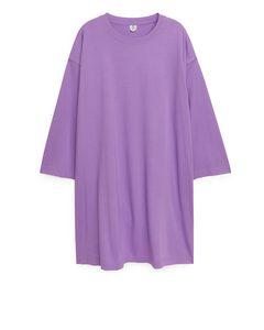 Pima Cotton Jersey Dress Purple