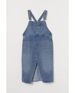 H&m+ Hängselklänning I Denim Denimblå