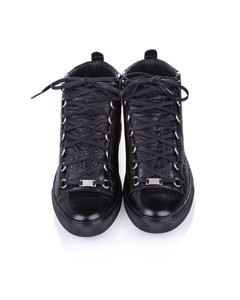 Balenciaga Classic Arena High Top Leather Sneaker Black