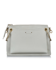 Chloe Roy Leather Satchel White